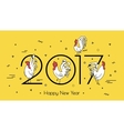 for the new year 2017 with a rooster vector image
