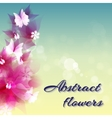 Abstract artistic Background with red floral vector image vector image