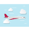 Airplane flying up to the sky vector image