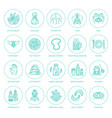 alternative medicine line icons naturopathy vector image vector image