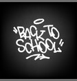 Back to school on black chalkboard
