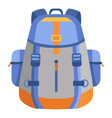 backpack icon flat style vector image