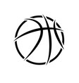 basketball abstract symbol outline background vector image vector image