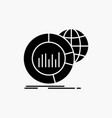 big chart data world infographic glyph icon vector image vector image