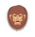 bigfoot happy face yeti cheerful emoji abominable vector image vector image