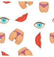 Body parts pattern cartoon style vector image vector image