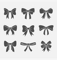 bows with ribbons set vector image