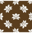 Brown seamless floral pattern with stylized vector image vector image