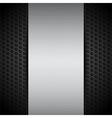 brushed metallic panel on black mesh vector image vector image