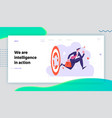business competition winner website landing page vector image