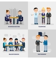 Business People Flat Concept vector image vector image