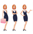 business woman - manager - lawyer vector image