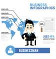 businessman info graphics vector image vector image