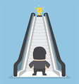 Businessman standing in front of escalator that le vector image vector image