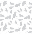 cats silhouette pattern background vector image