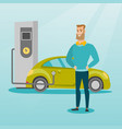 charging of electric car vector image vector image
