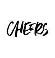 Cheers christmas lettering