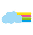 colorful cloud with nature rainbow design in the vector image vector image