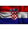 crumpled flag croatia on a light background vector image vector image