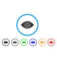 cyborg eye rounded icon vector image