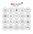 easy icons 51b intetnet fraud vector image vector image