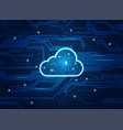 electronic cloud vector image vector image