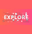 explore word abstract thin line vector image vector image
