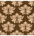 Floral seamless pattern with beige flowers on vector image vector image