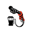 Fuel Pump Station Twisted Nozzle Retro vector image vector image