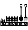 garden tools icon vector image vector image