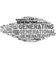 generating word cloud concept vector image vector image