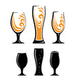 glass of orange juice and black silhouettes vector image vector image