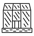 glasshouse icon outline style vector image