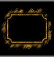 gold frame beautiful golden glitter design vector image vector image