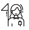 guide line icon vector image