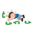 hand-drawn cartoon of drunk man lying on floor