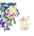 hand painting watercolor rose greeting card to vector image