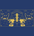 happy mid autumn festival rabbits and abstract vector image