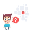 Have a question is the answe vector image