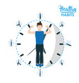 healthy habits lifestyle vector image