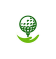 help golf logo icon design vector image vector image