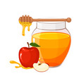 honey in glass jar vector image
