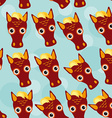 Horse Seamless pattern with funny cute animal face vector image