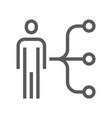 human resource line icon employee skills vector image
