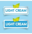 Light cream label vector image