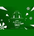 mazar-e-quaid pakistan independence day vector image vector image