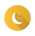moon flat design long shadow glyph icon vector image vector image