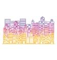 multicolor building and city scene vector image vector image