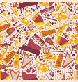 musical instruments in seamless pattern vector image