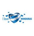 national flag honduras in shape vector image